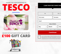 Оффер Tesco Sweepstake с оплатой за Sign up